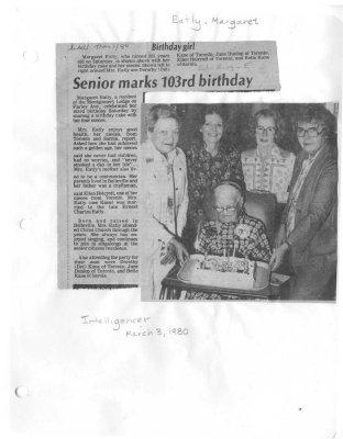 Senior marks 103rd birthday