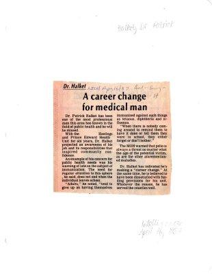 Dr. Halket: A career change for medical man