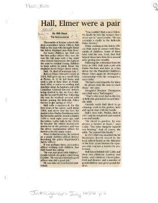 Hall, Elmer were a pair