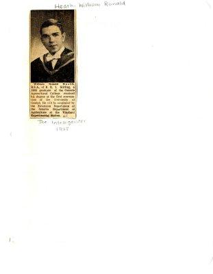 William Ronald Heath graduation