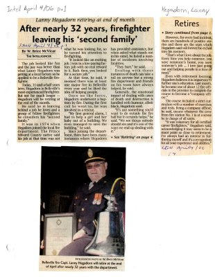 "After nearly 32 years, firefighter leaving his ""second family"""