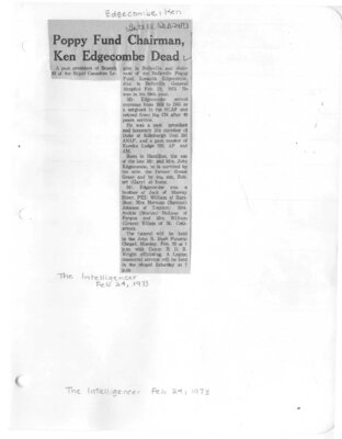 Edgecombe, Kenneth (Died)