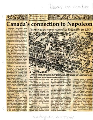 Remember When: Canada's connection to Napoleon