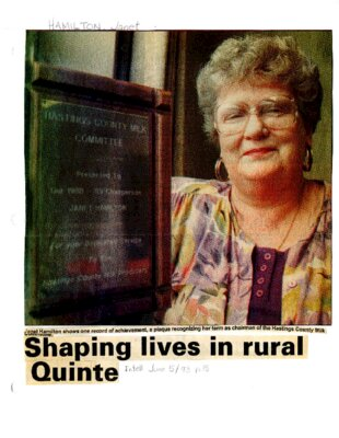 Shaping lives in rural Quinte