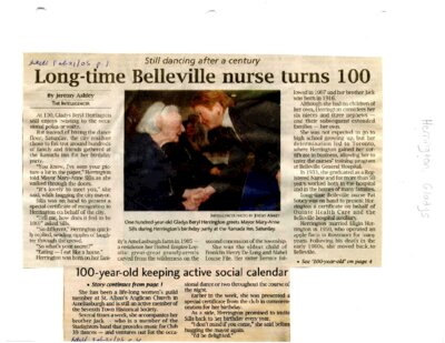 Long-time Belleville nurse turns 100