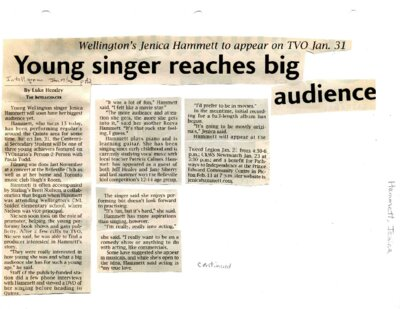 Young singer reaches big audience
