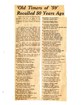'Old Timers of '59' recalled 50 years ago