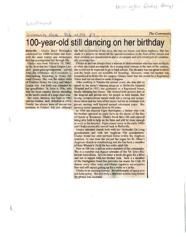 100 year old still dancing on her birthday