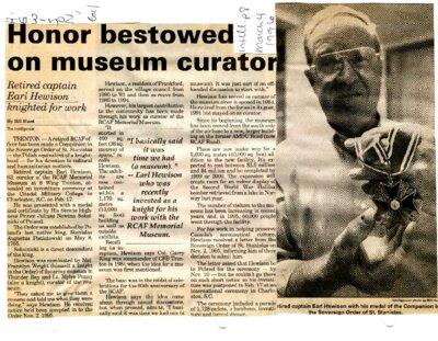 Honor bestowed on museum curator