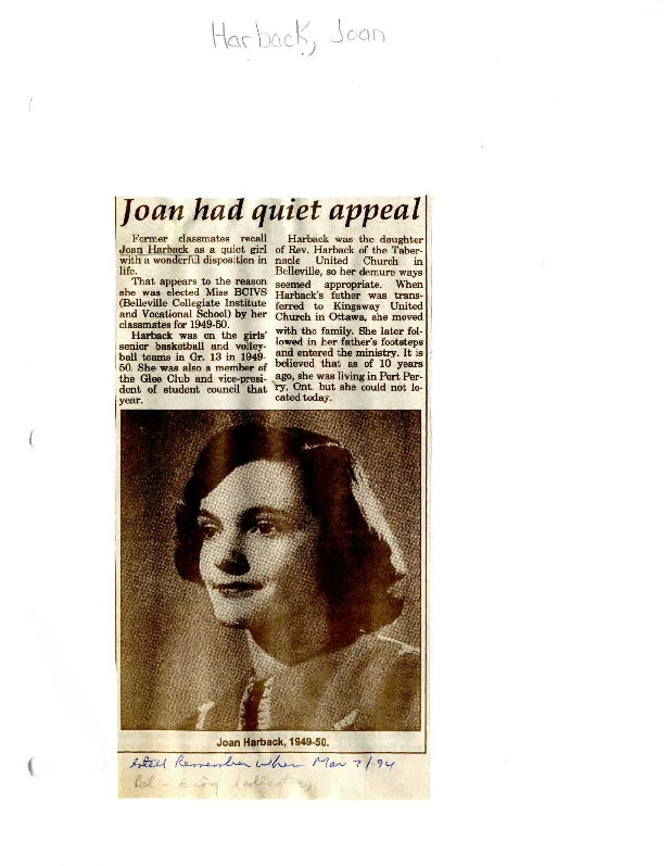 Remember When: Joan had quiet appeal