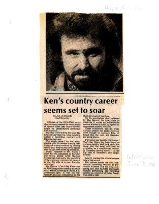 Ken's country career seems set to soar