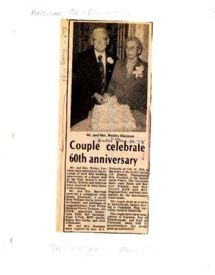 Couple celebrate 60th anniversary