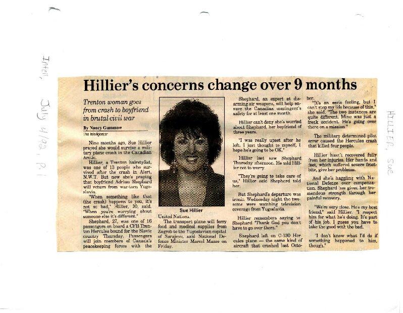 Hillier's conserns change over 9 months