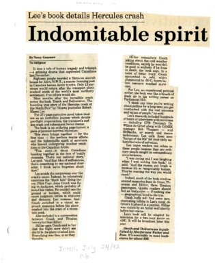 Indomitable spirit: Lee's book details Hercules crash