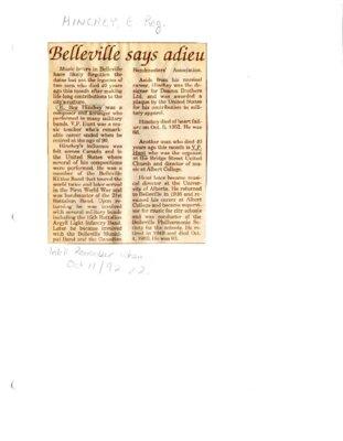 Remember When: Belleville says adieu