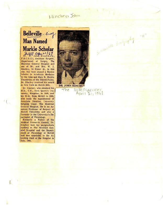 Belleville man named Markle Scholar