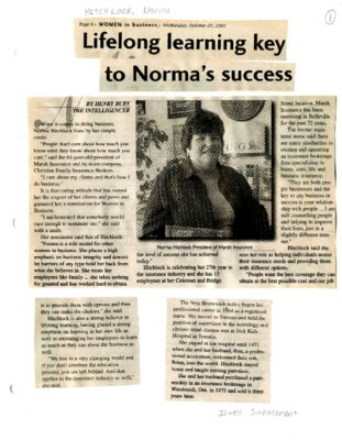 Lifelong learning key to Norma's success