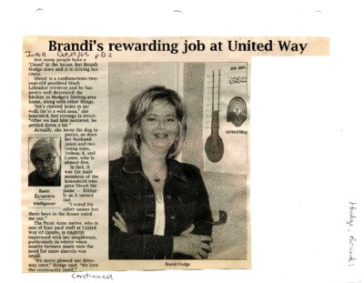 Brandi's rewarding job at United Way