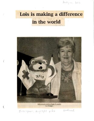 Lois is making a difference in the world