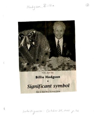 Billie Hodgson: Significant symbol