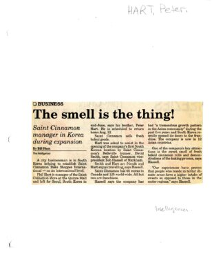 The smell is the thing!