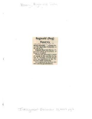Reginald Reg) Havery