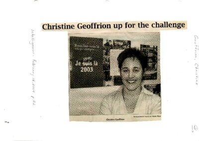 Christine Geoffrion up for the challenge