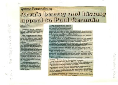 Area's beauty and history appeal to Paul Germain