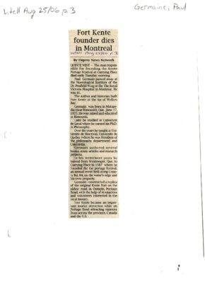 Fort Kente founder dies in Montreal