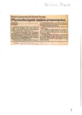 Physiotherapist makes presentation