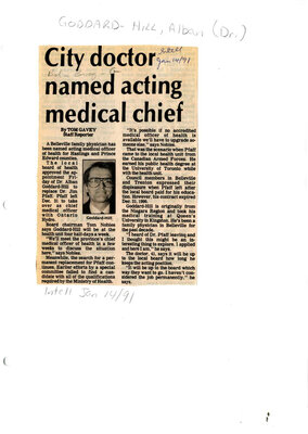 City doctor named acting medical chief