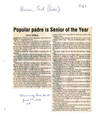 Popular padre is senior of the Year