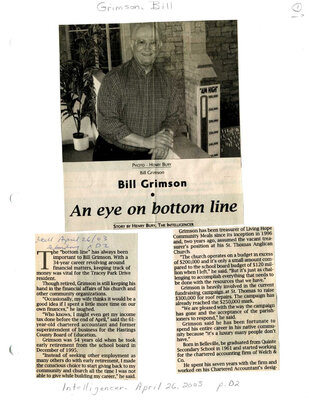 Bill Grimson: An eye on bottom line