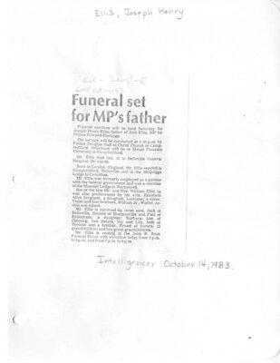 Ellis, Joseph Henry (Died)
