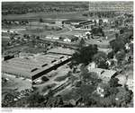Aerial view of American Optical Co. plant