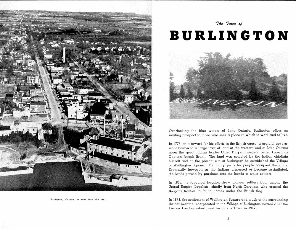 The Town of Burlington Booklet, 1945