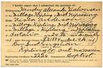 Certificat de mariage de / Marriage certificate of Hendry Alexander HalversenViola Anderson