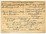 Certificat de mariage de / Marriage certificate of Bernard Louis Delree LongheadPearl Margaret Anderson