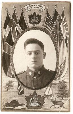 Hormidas Binette, soldat durant la Première Guerre Mondiale