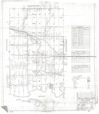 Schéma routier du canton de Caldwell / Caldwell Township road diagram