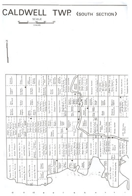 Carte du canton de Caldwell (Section du Sud) / Caldwell (South Section) Township map
