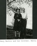Mary Malkin and her brother Harry