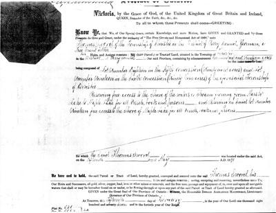 Thomas Swords Land Deed