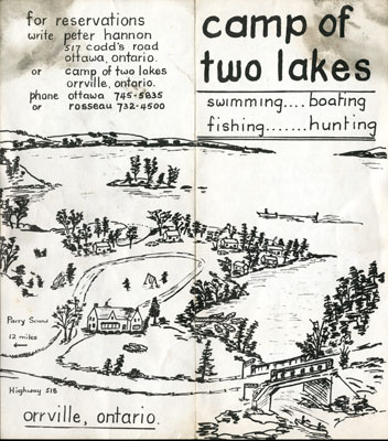 Camp of Two Lakes Flyer side a