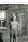 Albert Healy in front of Earnest Waugh