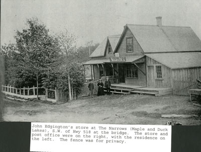 John Edgington's Store at The Narrows