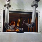 ON: Ottawa - Dept of mines and Technical surveys experiment with robotic controls to handle radioactive materials
