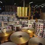 Ontario: Toronto - aluminum foil ready for shipment at packaging plant.