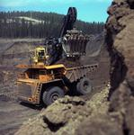 Photograph of heavy machinery at site