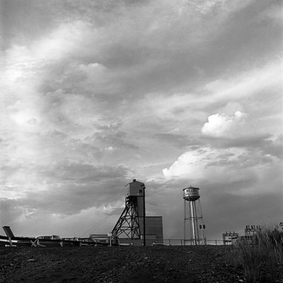 Wilroy Mines headframe, Manitouwadge, Ont
